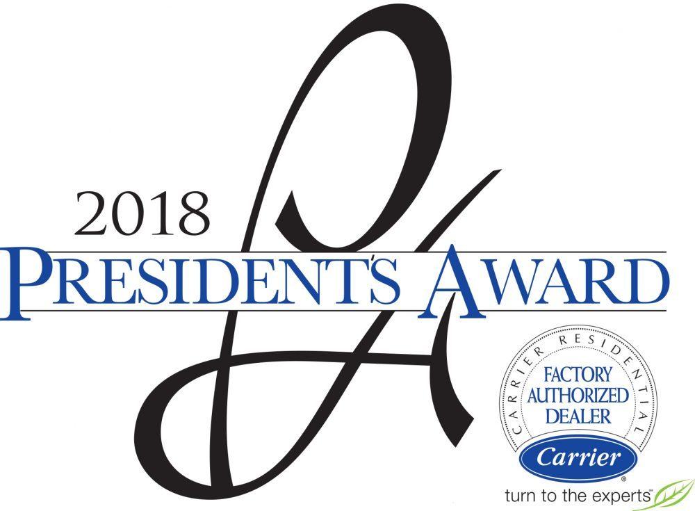 Carrier President's Award 2018 logo